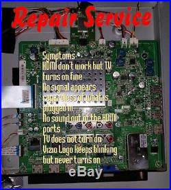 Repair Service Vizio Main board DEAD OR FLASHING 3655-0102-0150 for M550NV