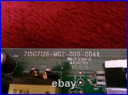 VIZIO E55-C1 MAIN BOARD XFCB02K005040X, 715G7126-M01-000-004K withScr & Port Covers