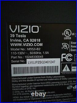 VIZIO M552i-B2 MAIN BOARD 748.00714.0011 WiFi, On/Off Button, Cabes and Speakers