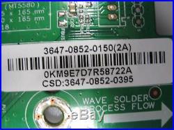 VIZIO M # E470i-A0 MAIN BOARD PART # 3647-0852-0150 SEE CONDITION DESCRIPTION