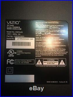 Vizio E601i-a3 Board Set Main Board Power Supply T-con Wires Speakers