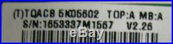 Vizio M # E470va Main Board Part # Cbpftqacb5k056, Tqacb5k05602 See Condition